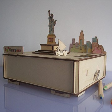 DIY Solar Kits---The Statue of Liberty Music box